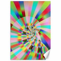 Irritation Funny Crazy Stripes Spiral Canvas 12  X 18   by designworld65