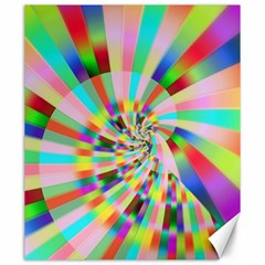 Irritation Funny Crazy Stripes Spiral Canvas 20  X 24   by designworld65