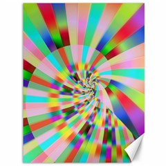 Irritation Funny Crazy Stripes Spiral Canvas 36  X 48