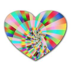 Irritation Funny Crazy Stripes Spiral Heart Mousepads