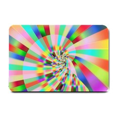 Irritation Funny Crazy Stripes Spiral Small Doormat  by designworld65