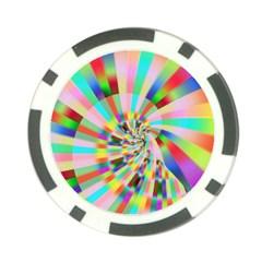 Irritation Funny Crazy Stripes Spiral Poker Chip Card Guard by designworld65