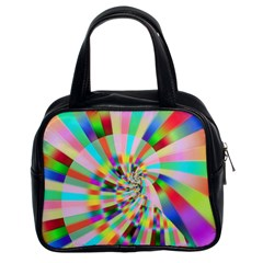 Irritation Funny Crazy Stripes Spiral Classic Handbags (2 Sides)