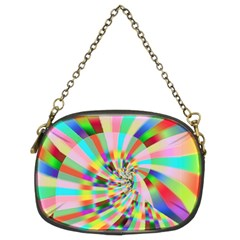 Irritation Funny Crazy Stripes Spiral Chain Purses (two Sides)