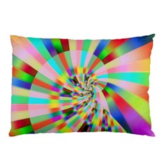 Irritation Funny Crazy Stripes Spiral Pillow Case