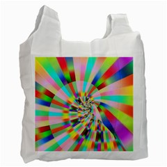 Irritation Funny Crazy Stripes Spiral Recycle Bag (two Side)  by designworld65