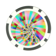 Irritation Funny Crazy Stripes Spiral Poker Chip Card Guard (10 Pack)