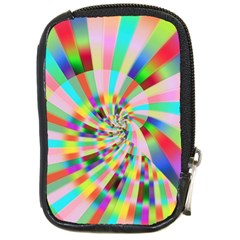 Irritation Funny Crazy Stripes Spiral Compact Camera Cases