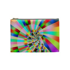 Irritation Funny Crazy Stripes Spiral Cosmetic Bag (medium)