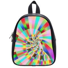 Irritation Funny Crazy Stripes Spiral School Bag (small)