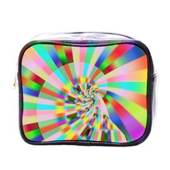 Irritation Funny Crazy Stripes Spiral Mini Toiletries Bags