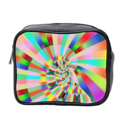 Irritation Funny Crazy Stripes Spiral Mini Toiletries Bag 2 Side