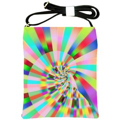 Irritation Funny Crazy Stripes Spiral Shoulder Sling Bags