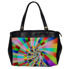 Irritation Funny Crazy Stripes Spiral Office Handbags