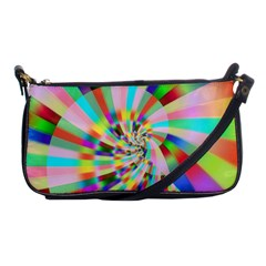 Irritation Funny Crazy Stripes Spiral Shoulder Clutch Bags