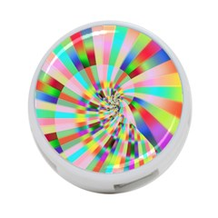 Irritation Funny Crazy Stripes Spiral 4 Port Usb Hub (one Side) by designworld65