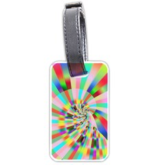 Irritation Funny Crazy Stripes Spiral Luggage Tags (two Sides)