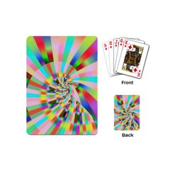 Irritation Funny Crazy Stripes Spiral Playing Cards (mini)