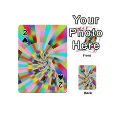 Irritation Funny Crazy Stripes Spiral Playing Cards 54 (mini)