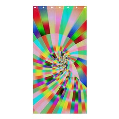 Irritation Funny Crazy Stripes Spiral Shower Curtain 36  X 72  (stall)