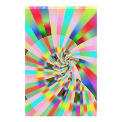 Irritation Funny Crazy Stripes Spiral Shower Curtain 48  X 72  (small)