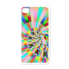 Irritation Funny Crazy Stripes Spiral Apple Iphone 4 Case (white)
