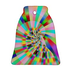 Irritation Funny Crazy Stripes Spiral Bell Ornament (two Sides)