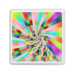 Irritation Funny Crazy Stripes Spiral Memory Card Reader (square)