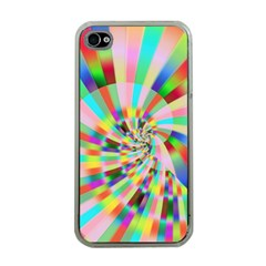 Irritation Funny Crazy Stripes Spiral Apple Iphone 4 Case (clear)