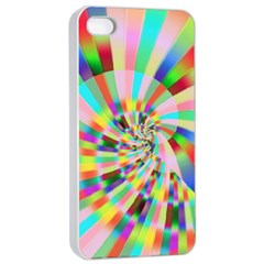 Irritation Funny Crazy Stripes Spiral Apple Iphone 4/4s Seamless Case (white) by designworld65