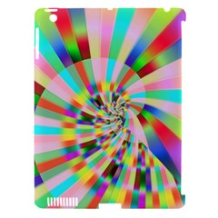 Irritation Funny Crazy Stripes Spiral Apple Ipad 3/4 Hardshell Case (compatible With Smart Cover) by designworld65