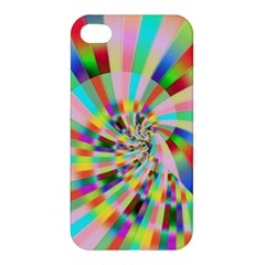 Irritation Funny Crazy Stripes Spiral Apple Iphone 4/4s Premium Hardshell Case