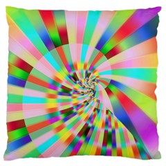 Irritation Funny Crazy Stripes Spiral Large Cushion Case (two Sides)
