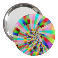 Irritation Funny Crazy Stripes Spiral 3  Handbag Mirrors