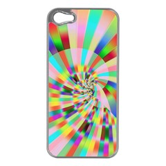 Irritation Funny Crazy Stripes Spiral Apple Iphone 5 Case (silver)