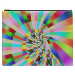 Irritation Funny Crazy Stripes Spiral Cosmetic Bag (xxxl)