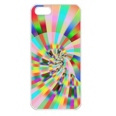 Irritation Funny Crazy Stripes Spiral Apple Iphone 5 Seamless Case (white)