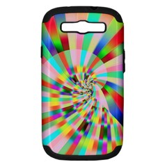 Irritation Funny Crazy Stripes Spiral Samsung Galaxy S Iii Hardshell Case (pc+silicone)