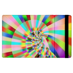 Irritation Funny Crazy Stripes Spiral Apple Ipad 3/4 Flip Case
