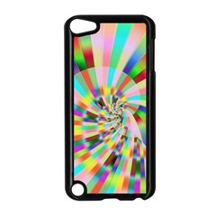 Irritation Funny Crazy Stripes Spiral Apple Ipod Touch 5 Case (black)