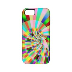 Irritation Funny Crazy Stripes Spiral Apple Iphone 5 Classic Hardshell Case (pc+silicone)