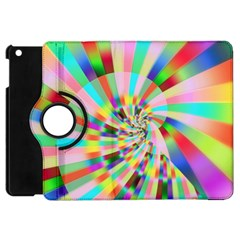 Irritation Funny Crazy Stripes Spiral Apple Ipad Mini Flip 360 Case