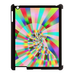 Irritation Funny Crazy Stripes Spiral Apple Ipad 3/4 Case (black)