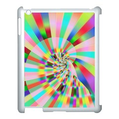 Irritation Funny Crazy Stripes Spiral Apple Ipad 3/4 Case (white)