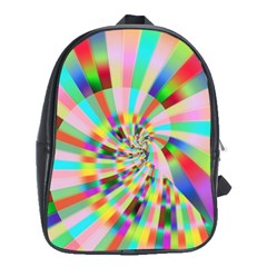 Irritation Funny Crazy Stripes Spiral School Bag (xl)