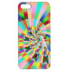 Irritation Funny Crazy Stripes Spiral Apple Iphone 5 Hardshell Case With Stand