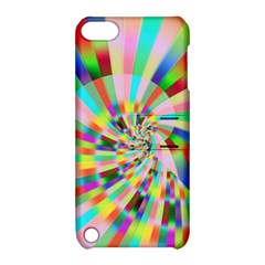 Irritation Funny Crazy Stripes Spiral Apple Ipod Touch 5 Hardshell Case With Stand by designworld65