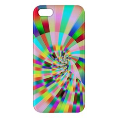 Irritation Funny Crazy Stripes Spiral Apple Iphone 5 Premium Hardshell Case