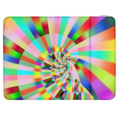 Irritation Funny Crazy Stripes Spiral Samsung Galaxy Tab 7  P1000 Flip Case by designworld65