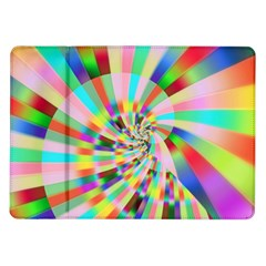 Irritation Funny Crazy Stripes Spiral Samsung Galaxy Tab 10 1  P7500 Flip Case